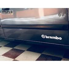 Brembo Logo Sticker On Hyundai Accent Hyundai Brembo Stickers Cars Decals Racing Stickers Brembo Logo Sticker