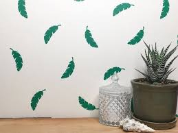 Banana Leaf Decals Leaf Decals Vinyl Wall Decal Leaf Vinyl Etsy