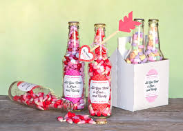 valentine candy bottles diy heart