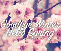 goodbye winter hello spring pictures photos images and pics for