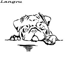 Langru 15cm 10cm Pug Dog Decal Vinyl Sticker Animal Bread Cute Puppy Big Large Car Accessories Jdm Car Stickers Aliexpress