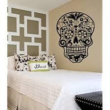 Sugar Skull Decal Sticker Wall Vinyl Day Of The Dead Wall Decor Stickers Amazon Com