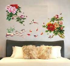 Removable Wall Sticker Peony Vine Wall Decal Mural Living Room Bedroom Home Deco Ebay