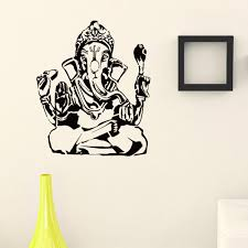 Shop Indian God Elephant Ganesha Vinyl Wall Art Decal Sticker Overstock 10597382