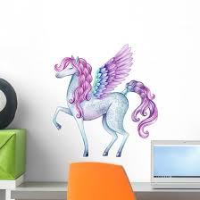 Watercolor Fairy Tale Pegasus Wall Decal Wallmonkeys Com