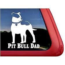 Pit Bull Dad Large Decal Dog Park Publishing