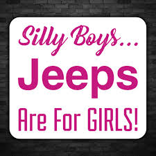Jeep Are For Girls Decal Cw Wraps