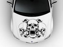 Amazon Com Hood Car Vinyl Decal Sticker Graphics Skulls 3699 Baby