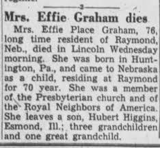 Effie Graham obit - Newspapers.com
