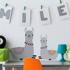 Lazy Llama Stencil Nursery Kids Bedroom Wall Decor Art Etsy