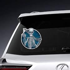Skeleton With Shotgun Sticker