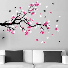 Shop Cherry Blossom Branch With Birds Vinyl Wall Art Decal On Sale Overstock 7668420
