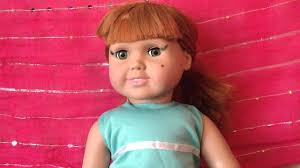 put makeup on an american doll