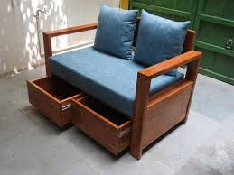 wooden sofa set with fabric