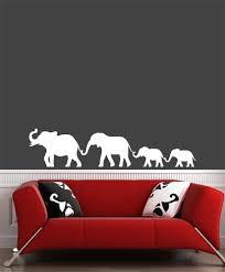 The Decal Store Com By Yadda Yadda Design Co Wall Elephant Family Walking Holding Trunks Vinyl Wall Decal C 201
