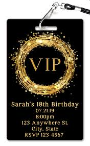 Vip Birthday Invitation Invitacion Cumpleanos Adultos
