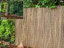 Willow Natural Fencing Screening Rolls 1 83m X 1 83m 6ft X 6ft By Papillon 24 99 Willow Screening Wooden Garden Hot Tub Outdoor