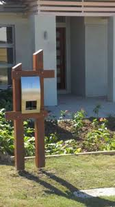Kwila Merbau Timber And Stainless Steel Letterbox Letter Box Garden Projects Timber