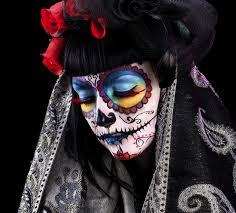 sugar skull makeup for