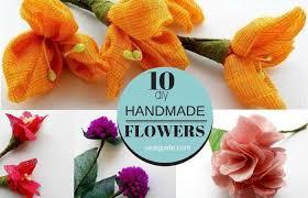 easy diy ways to make fabric flowers