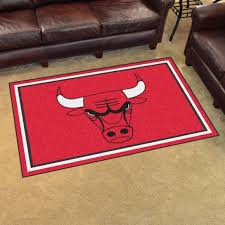 nba chicago bulls 4 x6 plush rug