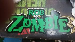 Rob Zombie Bumper Sticker Collectible Rare Vintage 1990 S Metal Window Decal Ebay