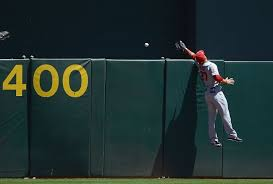 Game 112 8 8 12 Mike Trout 27 Of The Los Angeles Angels Of Anaheim Leap But Can T Make The Catch Of This Ball T Los Angeles Angels Anaheim Angels Mike Trout