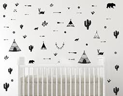 Amazon Com Tribal Wall Decals Tribal Decor Baby Nursery Wall Decal Kids Wall Decal Modern Nursery Decal Modern Children Room Scandinavian Decor Handmade