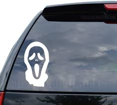 Amazon Com Scream Horror Movie Decal Sticker Car Truck Motorcycle Window Ipad Laptop Wall Decor Size 11 Inch 28 Cm Wide Color Gloss Black Home Kitchen