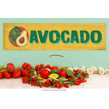 Avocado Farm Stand Vegetable Wall Decal Rustic Kitchen Decor At Retro Planet