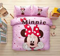 minnie mouse pink bedding set twin