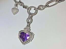 sterling silver amethyst heart enhancer