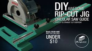 Diy Awesome Rip Cut Circular Saw Guide Jig Perfect Cut Youtube