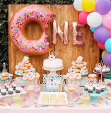 Twins Party Rose Gold One Letter Balloons Donut Theme First Birthday Party 1st Birthday Party Decor Kids Baby Shower Girl Decor Aliexpress