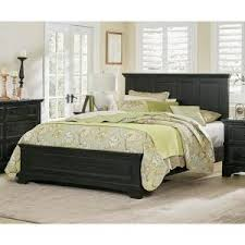 farmhouse basics rustic black king bed