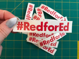 3 5 Inch Hashtag Red For Ed Vinyl Decal Sticker Arizona Etsy