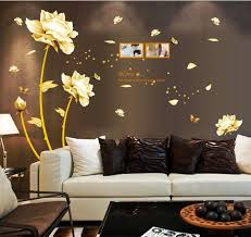Chinese Style White Flowers Removable Wall Stickers My Aashis