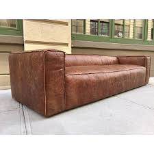 distressed brown leather sofas