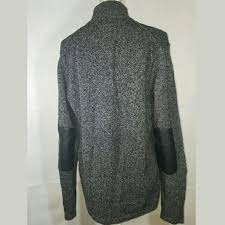 mens sweater leather elbow patches