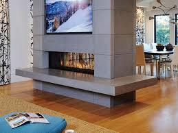 double sided gas closed fireplace linea