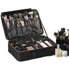 case makeup artist organizer black bag