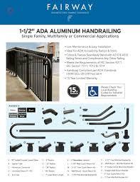 Aluminum Ada Tear Pad Sheet By Fairway Architectural Railing Solutions Issuu