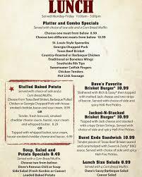 famous dave s bbq menu menu for famous