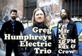 Greg Humphreys Electric Trio Live In The Parlour Jersey City Times