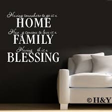 Removable Wall Quote Decal Vinyl Sticker Art Mural Diy Home Family Blessing Ebay