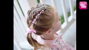 Kiểu tóc đẹp cho bé gái tung tăng đến trường - YouTube