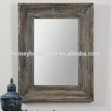 distressed wood mirror frame antique