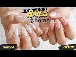 diy nail fill at home dip powder