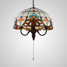 bowl shade ceiling light with pull