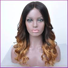 wavy lace front ombre human hair wigs